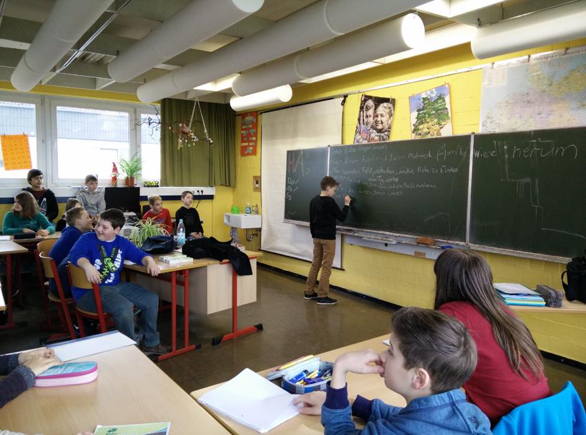 Arbeit mit der ganzen Klasse: Ideen sammeln